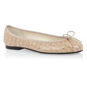 Image 1 for Henrietta Taupe Patent Crocodile (HE608)