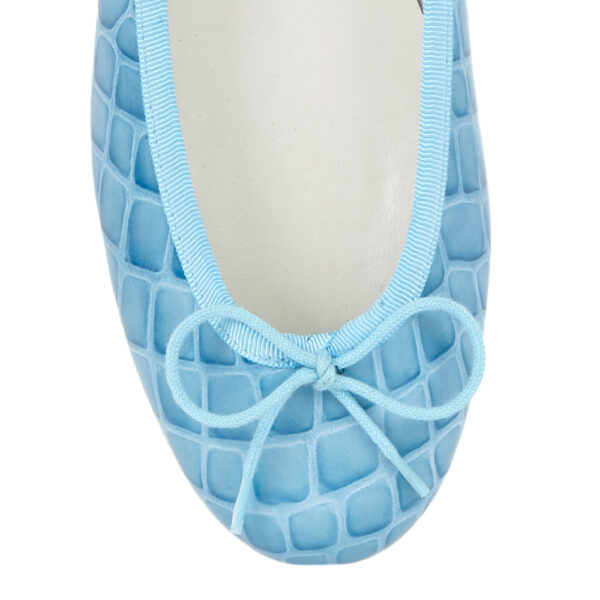 Image 2 for Henrietta Pale Blue Patent Crocodile (HE670)