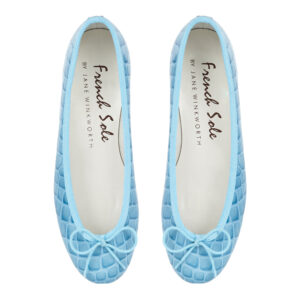 Image 3 for Henrietta Pale Blue Patent Crocodile (HE670)