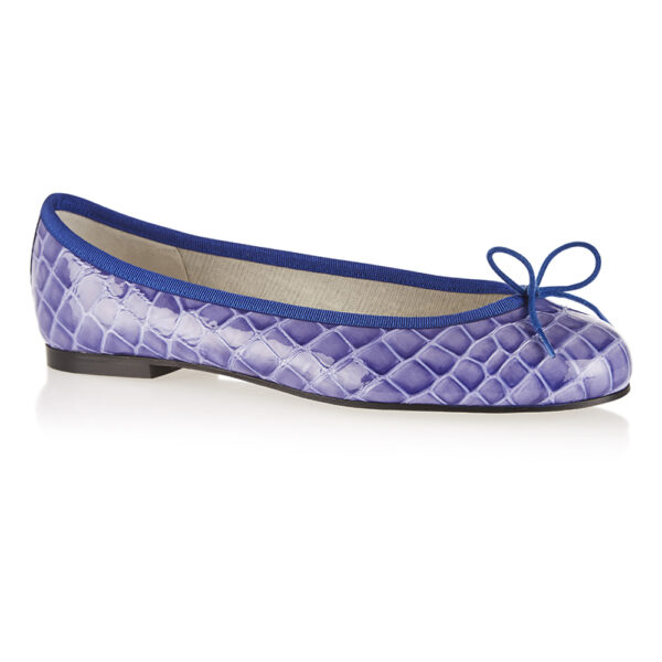 Image 1 for Henrietta Blue Patent Crocodile Effect (HE721)