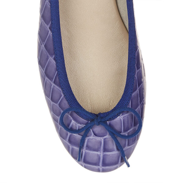 Image 2 for Henrietta Blue Patent Crocodile Effect (HE721)