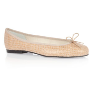 Image 1 for Henrietta Nude Woven Leather (HE747)
