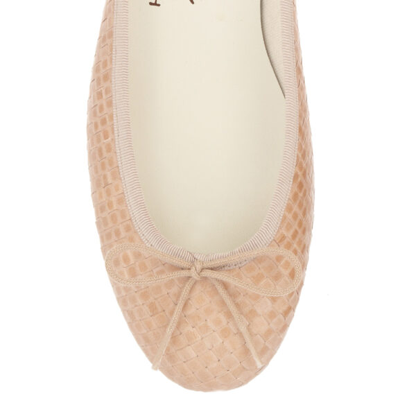 Image 2 for Henrietta Nude Woven Leather (HE747)