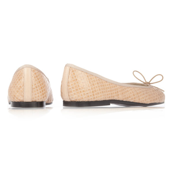 Image 4 for Henrietta Nude Woven Leather (HE747)