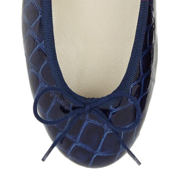 Image 2 for Henrietta Blue Patent Crocodile (HE785)