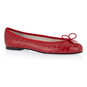 Image 1 for Henrietta Red Patent Crocodile (HE786)