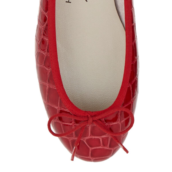 Image 2 for Henrietta Red Patent Crocodile (HE786)