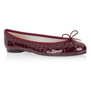Image 1 for Henrietta Burgundy Patent Crocodile (HE787)