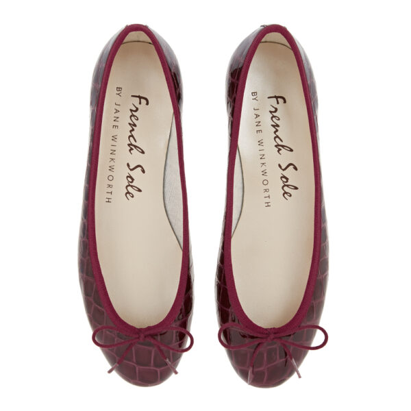 Image 3 for Henrietta Burgundy Patent Crocodile (HE787)