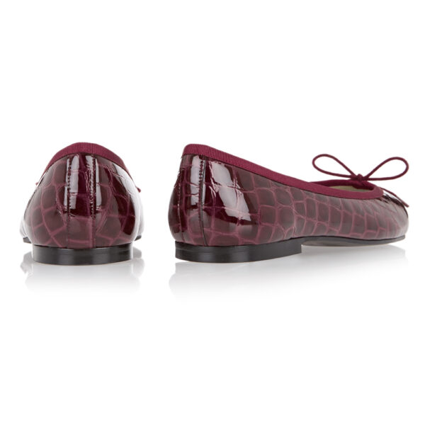 Image 4 for Henrietta Burgundy Patent Crocodile (HE787)
