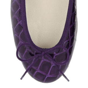 Image 2 for Henrietta Purple Patent Crocodile (HE789)