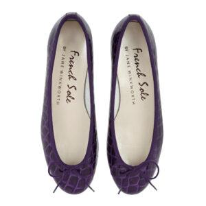 Image 3 for Henrietta Purple Patent Crocodile (HE789)