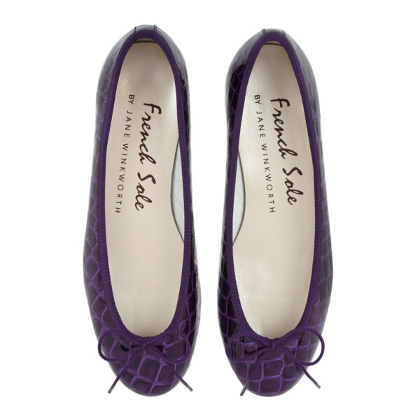 Image 3 for Henrietta Purple Patent Crocodile (HE789)