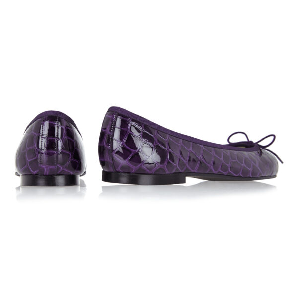 Image 4 for Henrietta Purple Patent Crocodile (HE789)