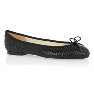 Image 1 for Henrietta Black Woven Leather (HE81)