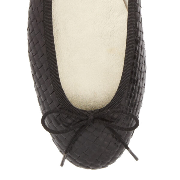 Image 2 for Henrietta Black Woven Leather (HE81)