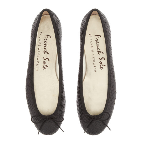 Image 3 for Henrietta Black Woven Leather (HE81)