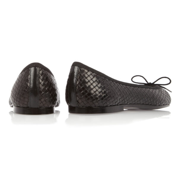 Image 4 for Henrietta Black Woven Leather (HE81)