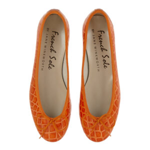 Image 3 for Henrietta Orange Patent Crocodile (HE884)