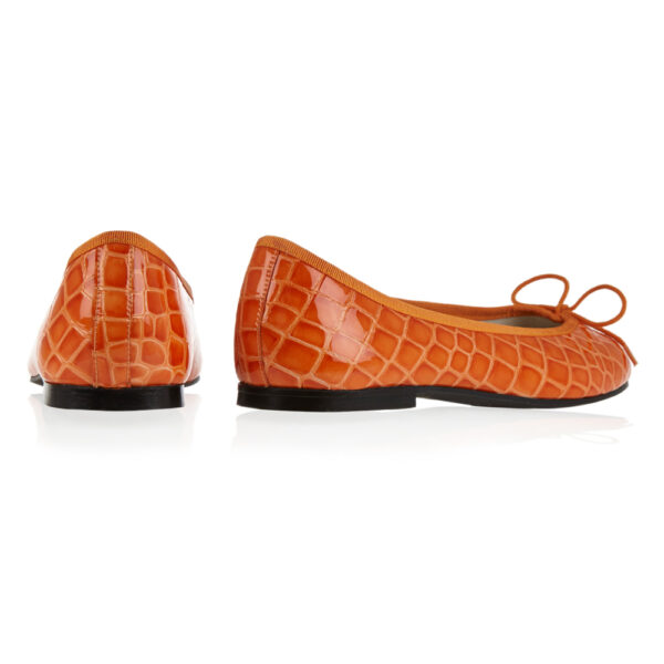 Image 4 for Henrietta Orange Patent Crocodile (HE884)