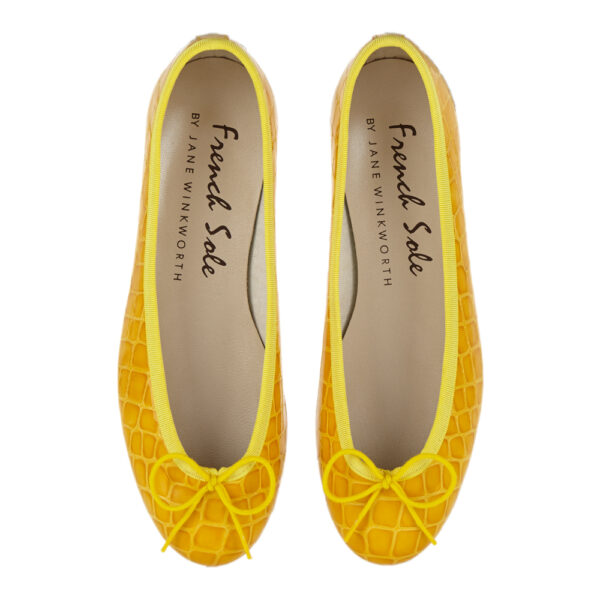 Image 3 for Henrietta Yellow Patent Crocodile (HE885)