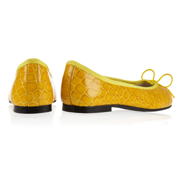 Image 4 for Henrietta Yellow Patent Crocodile (HE885)