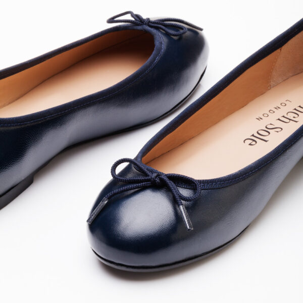 Image 2 for Henrietta Navy Leather (HE918)
