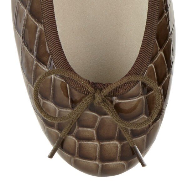Image 2 for Henrietta Brown Patent Crocodile (HE921)