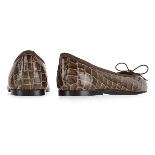 Image 4 for Henrietta Brown Patent Crocodile (HE921)