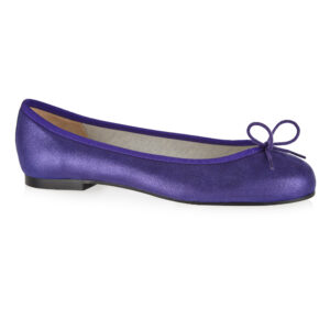 Image 1 for Henrietta Purple Metallic Suede (HE928)