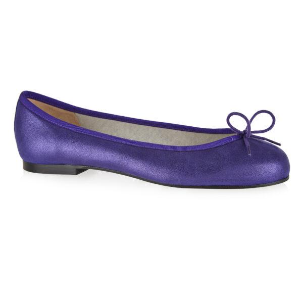 Image 1 for Henrietta Purple Metallic Suede (HE928)