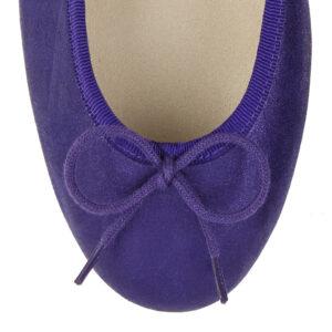 Image 2 for Henrietta Purple Metallic Suede (HE928)