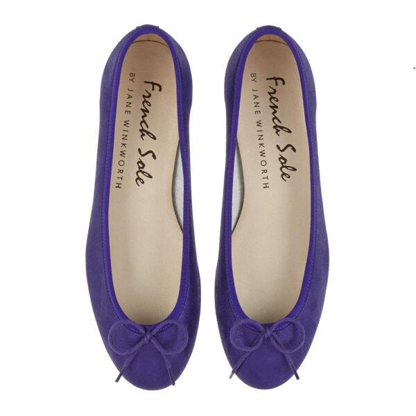 Image 3 for Henrietta Purple Metallic Suede (HE928)