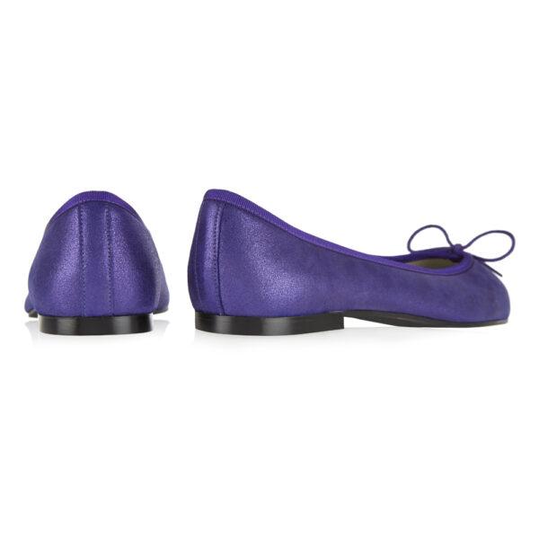 Image 4 for Henrietta Purple Metallic Suede (HE928)