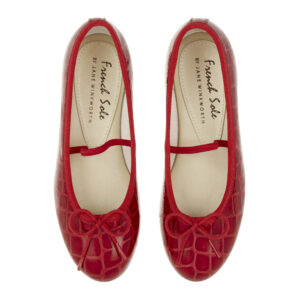 Image 3 for Henrietta Children's Red Patent Crocodile (HEC03)
