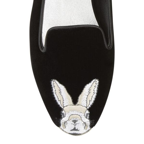 Image 2 for Hefner Black  Black Bunny Embroidery (HFF132)