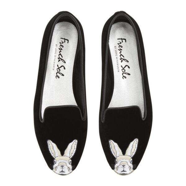 Image 3 for Hefner Black  Black Bunny Embroidery (HFF132)