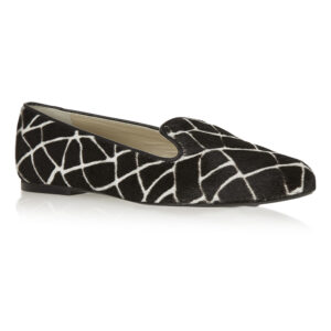 Image 1 for Hefner Black Giraffe Print Calf Hair (HFF134)