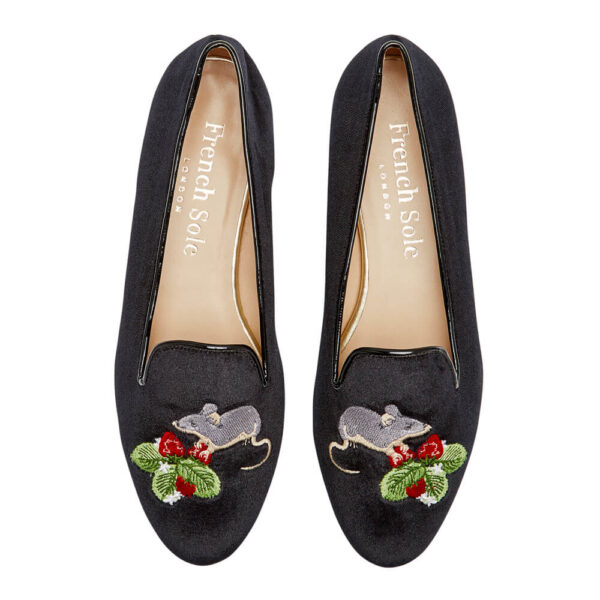 Image 3 for Hefner Black Velvet Mouse Strawberries Embroidery (HFF224)