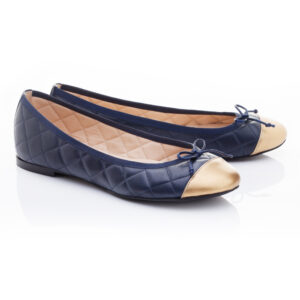 Image 2 for Lola Navy Quilted Leather (LAQ07)