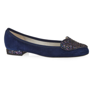 Image 1 for Love Heart Navy Suede (LH39)