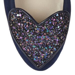 Image 2 for Love Heart Navy Suede (LH39)