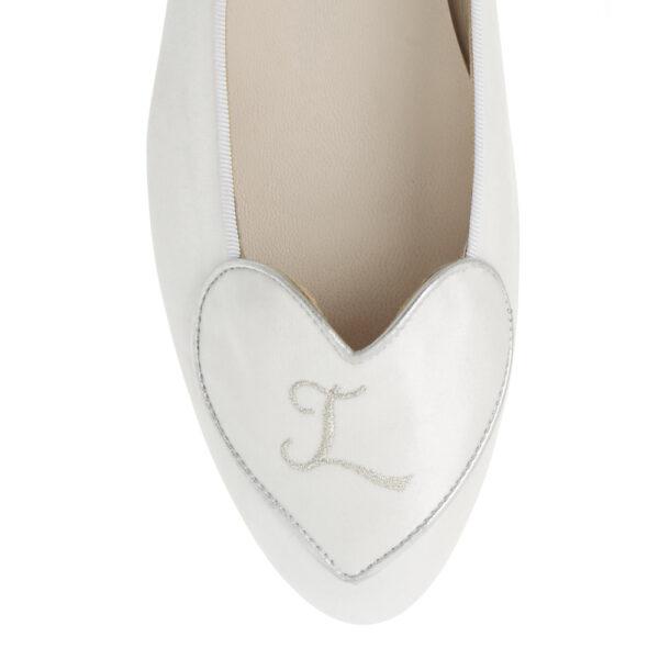 Image 2 for Love Heart White Satin (LH80)