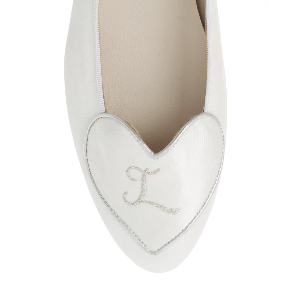 Image 2 for Love Heart White Satin (LH80)