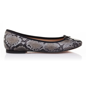 Image 1 for Lola Stone Grey Leather Snake (LOL07)