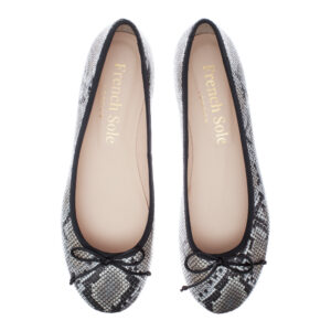 Image 2 for Lola Stone Grey Leather Snake (LOL07)