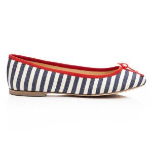 Image 2 for Lola Cream-Navy Textile (LOL21)