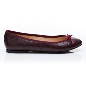 Image 2 for Lola Burgundy Leather Croc (LOL25)