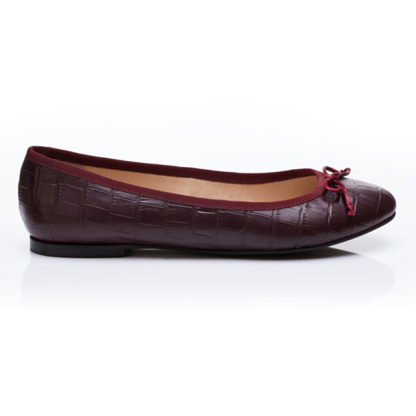 Image 2 for Lola Burgundy Leather Croc (LOL25)