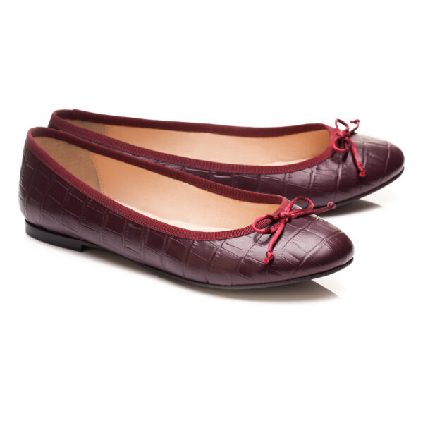 Image 3 for Lola Burgundy Leather Croc (LOL25)